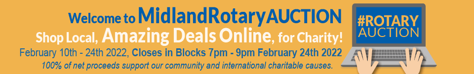 Shop Local, Amazing Deals Online, for Charity! Over 290 Items Valued from $15 to $3,400. #RotaryAuction